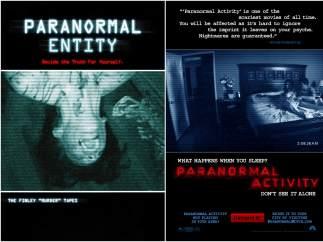 'Paranormal Entity' (2009) y 'Paranormal Activity' (2007)