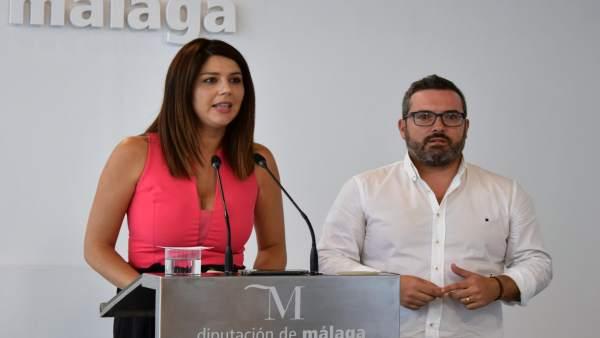 Irene Díaz Y Manuel Chicon, diputados del PSOE