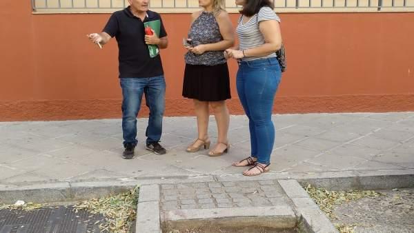 Eva Oliva, durante su visita al Porvenir
