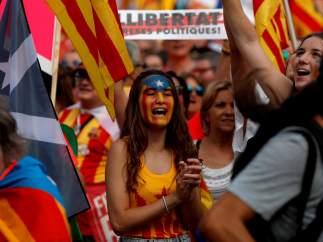 Muchos manifestantes jóvenes