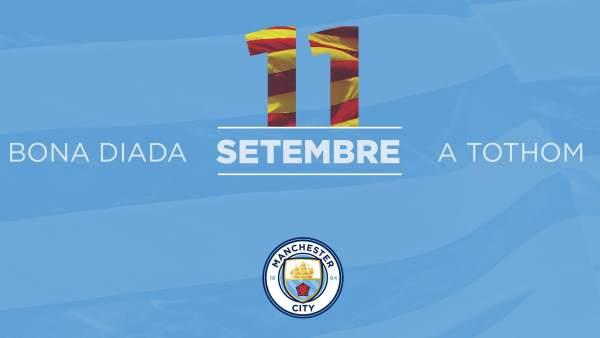 Felicitación Diada Manchester City