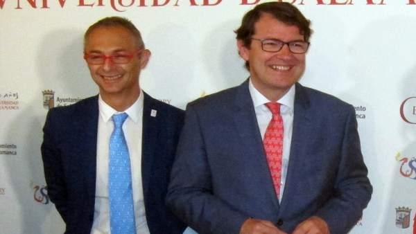 El rector de la USAL junto a Fernández Mañueco