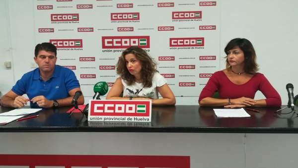 CCOO analiza el comienzo del curso en Huelva.