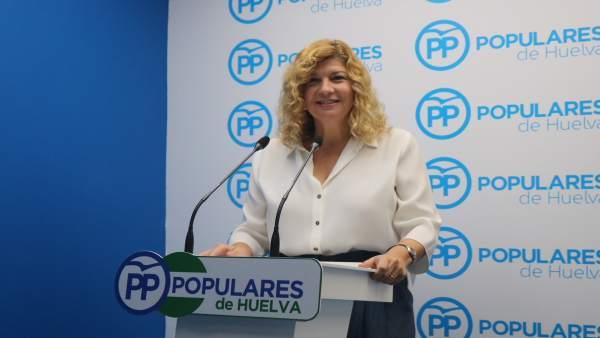 La viceportavoz del grupo popular en el Ayuntamiento de Huelva, Berta Centeno.