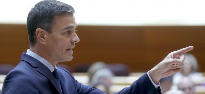Pedro Sánchez en el pleno del Senado