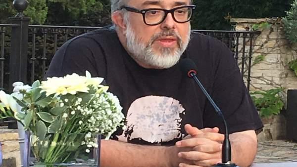 El director Álex de la Iglesia en la presentación de 'En las estrellas'