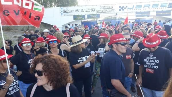 Protestas de Andalucía Emprende de CCOO
