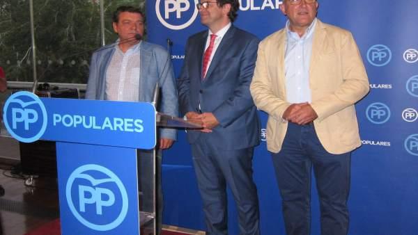 González Gago, Fernández Mañueco y Jesús Julio Carnero. 11-9-2018