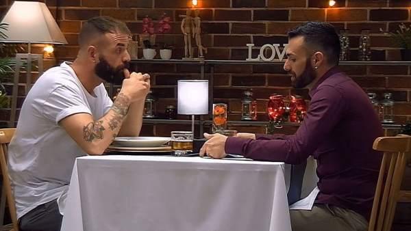 Jorge y Rubén en 'First Dates'.