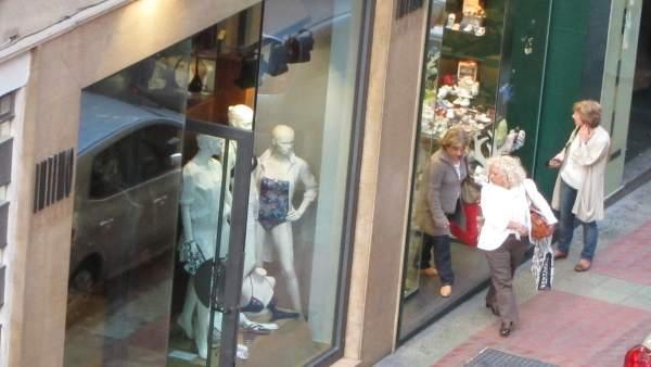 Imagen de Archivo. Tienda de ropa