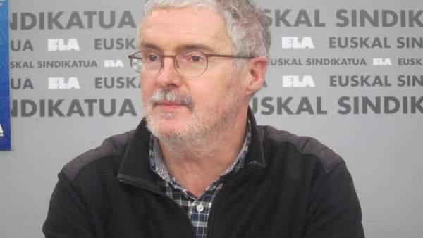 Secretario general de ELA, Adolfo Muñoz
