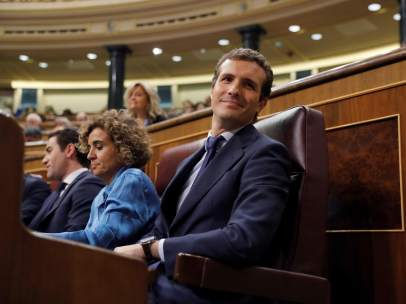 Pablo Casado, durante la sesión de control en el Congreso.