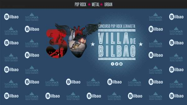 Cartel del concurso pop-rok Villa de Bilbao
