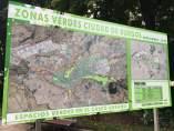 Mapa de zonas verdes de Burgos