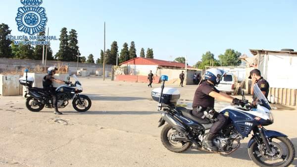 Despliegue policial en El Vacie