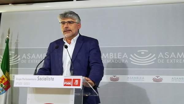 Valentín García en rueda de prensa este miércoles en Mérida
