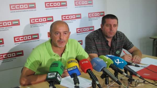 Francisco Jiménez y Manuel García, dirigentes de CCOO