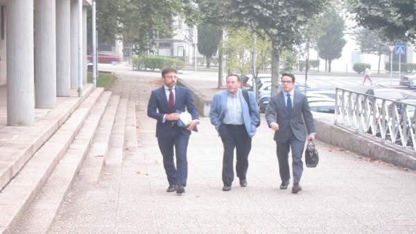Fernando Rebón a su llegada a los juzgados por el caso Alvia