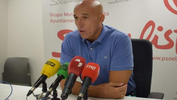 El portavoz socialista, José Antonio Diez.