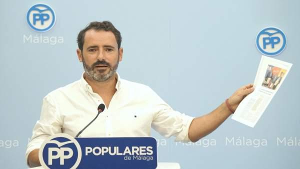 José Ramón Carmona (PP) rueda de prensa sobre empleo