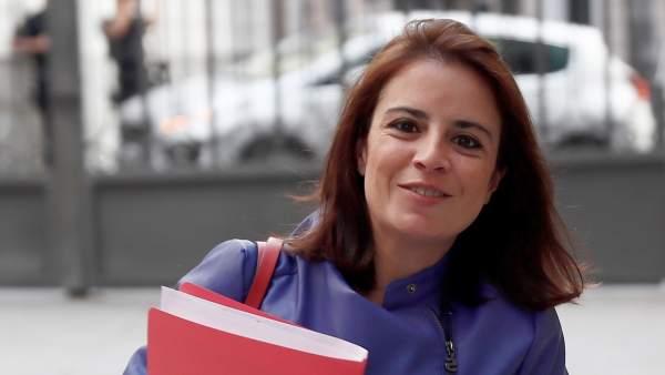 La portavoz socialista en el Congreso, Adriana Lastra.