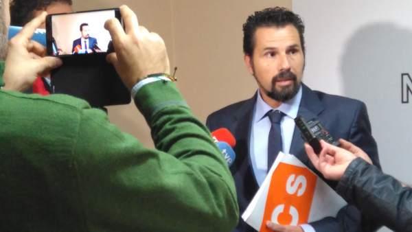 El portavoz de Cs, Mario Gómez