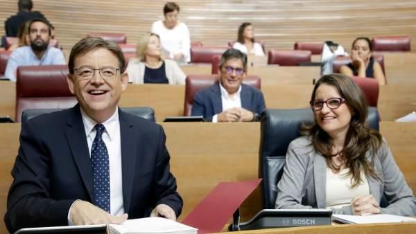 Ximo Puig y Mónica Oltra en el Debate