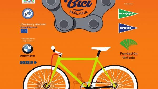 Cartel Día de la Bicicleta en Málaga