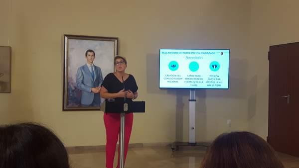 La consejera de Transparencia, Participación y Portavoz, Noelia Arroyo