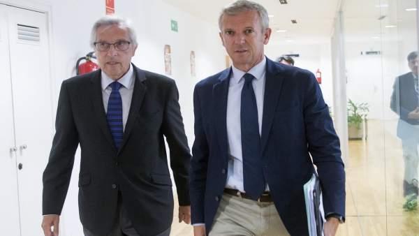El presidente del TSXG y el vicepresidente de la Xunta