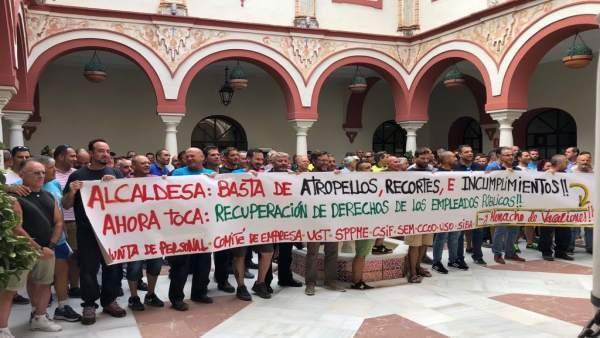 Protesta laboral en Alcalá