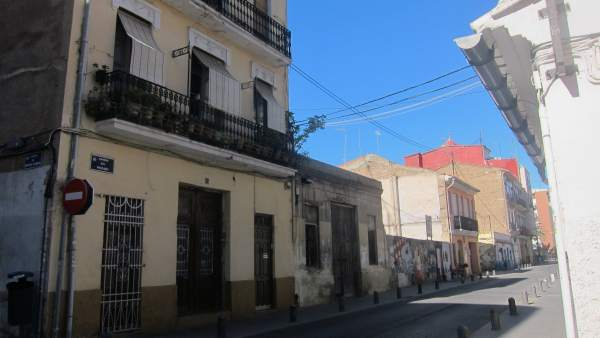 Imagen de una calle del barrio valenciano del Cabanyal