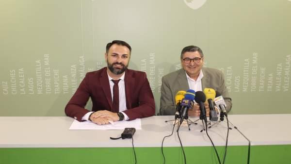 Delegado de Conocimiento y el alcalde de Vélez. Planes empleo Junta