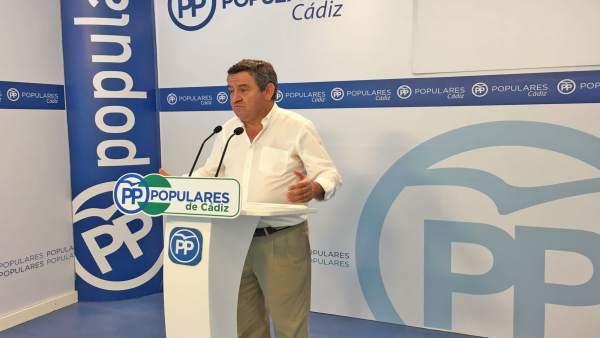 El portavoz del PP en la Diputación de Cádiz, José Loaiza