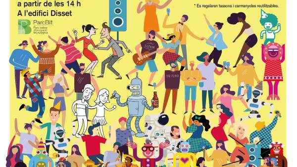 Cartel de la Festa Major del ParcBit 2018