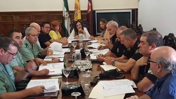 Junta local de seguridad ciudadana en Úbeda