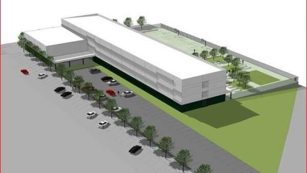 Diseño del que será el nuevo instituto de Sarriguren
