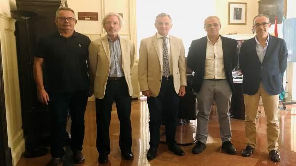 Reunión puerto de Málaga y Railway