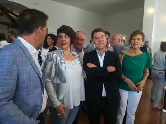 García-Page en el salón de la cuchillería de Albacete