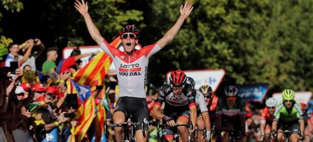 El belga Wallays sorprende a los esprinters en Lleida en la jornada previa a los Pirineos