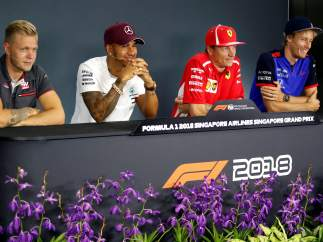 Rueda de prensa del GP de Singapur