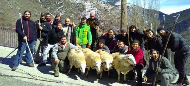 Alumnos de la escuela de pastores de Lleida