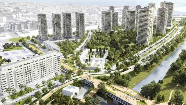 El pla per al Grau preveu una passarel·la per als vianants i 2.500 habitatges