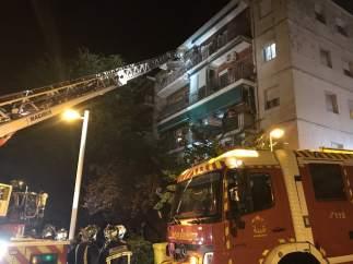 Incendio en un edificio de Pozuelo