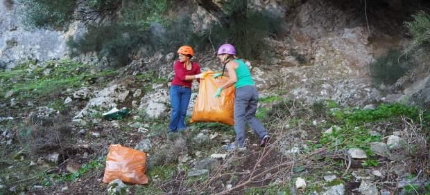 Limpieza de residuos en la Serra de Tramuntana