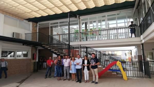 Visita al colegio Jaén, de Linares.