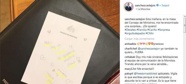 Nota de las hijas de Pedro Sánchez
