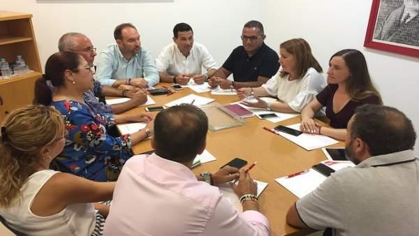 Reunión de responsables territoriales del PSOE de Huelva.