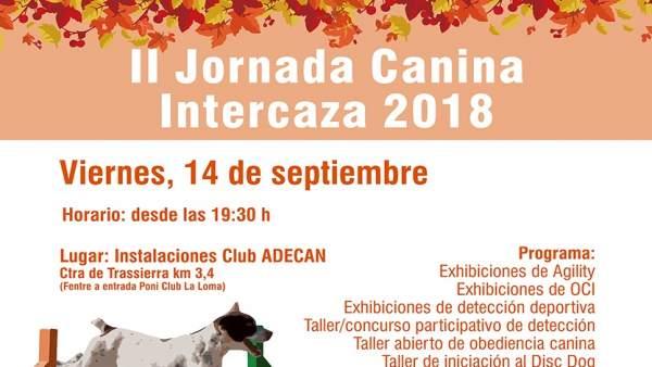 Cartel de la Jornada Canina Intercaza 2018