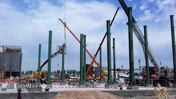 Inicio del montaje de la caldera de la planta de 40MW en Huelva.